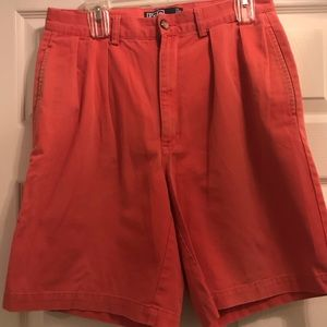90's Polo Ralph Lauren Pleated Pink Shorts 32